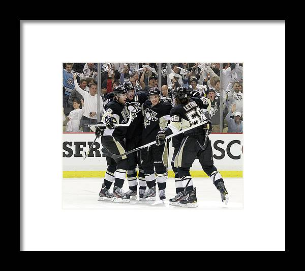 Playoffs Framed Print featuring the photograph Philadelphia Flyers V Pittsburgh by Justin K. Aller