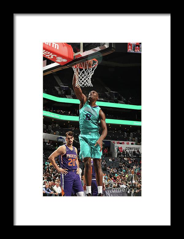 Nba Pro Basketball Framed Print featuring the photograph Phoenix Suns V Charlotte Hornets by Kent Smith