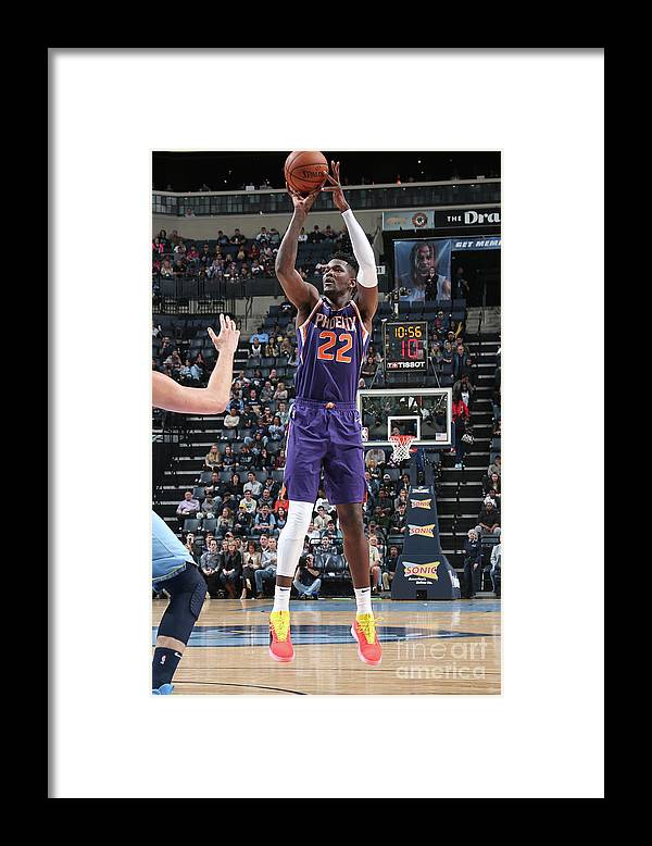 Nba Pro Basketball Framed Print featuring the photograph Phoenix Suns V Memphis Grizzlies by Ned Dishman