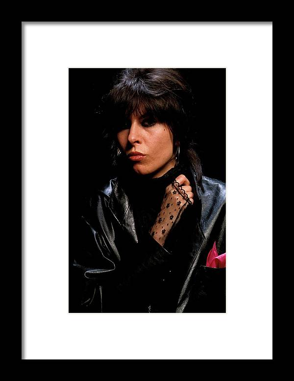 Music Framed Print featuring the photograph Photo Of Chrissie Hynde And Pretenders by Fin Costello
