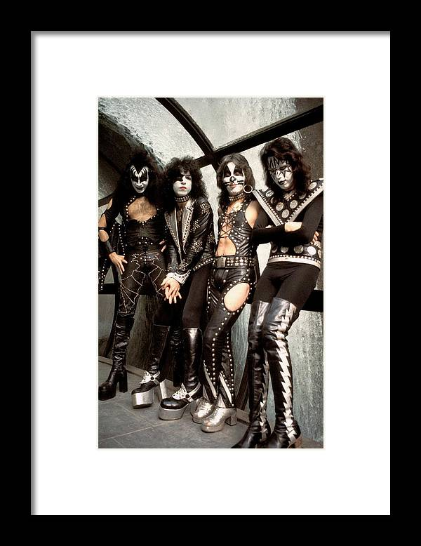 Kiss Framed Print featuring the photograph Photo Of Paul Stanley And Kiss And Ace by Steve Morley