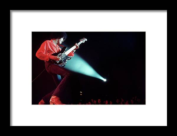 Heavy Metal Framed Print featuring the photograph Photo Of Phil Lynott And Thin Lizzy by Erica Echenberg