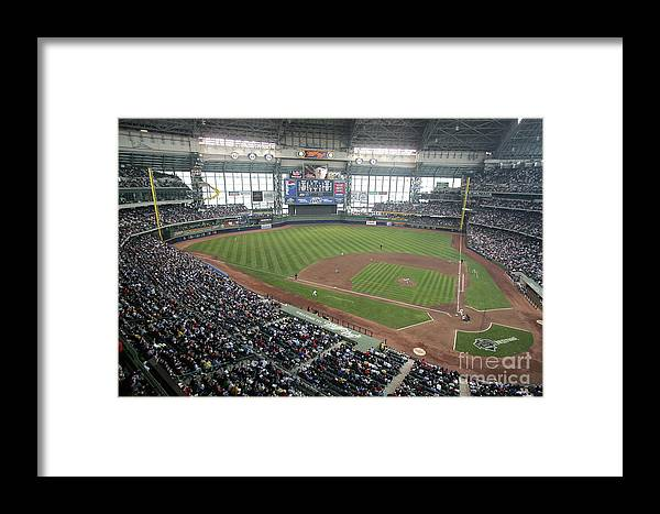 Wisconsin Framed Print featuring the photograph Pittsburg Pirates V Milwaukee Brewers 1 by Jonathan Daniel