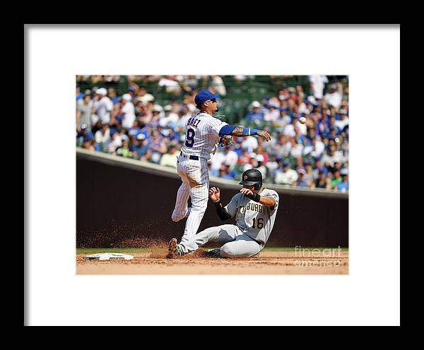 People Framed Print featuring the photograph Pittsburgh Pirates V Chicago Cubs 1 by Quinn Harris