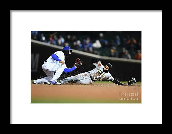 People Framed Print featuring the photograph Pittsburgh Pirates V Chicago Cubs by Stacy Revere