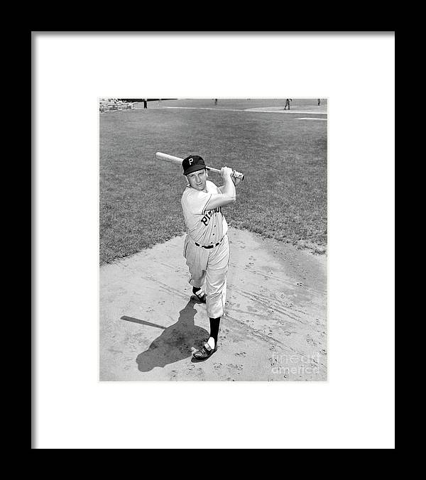 People Framed Print featuring the photograph Pittsburgh Pirates Vs. New York Giants 1 by Kidwiler Collection