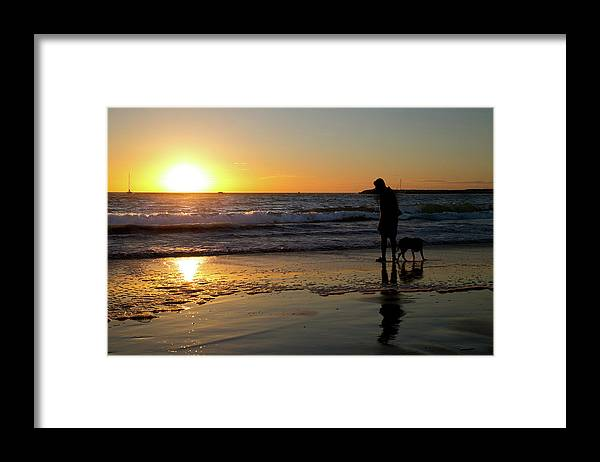 California Framed Print featuring the photograph Playa Del Rey Sunset by Fred DeSousa