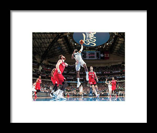 Tim Hardaway Jr. Framed Print featuring the photograph Portland Trailblazers V Dallas Mavericks by Glenn James