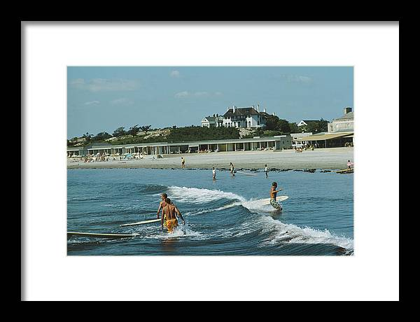 Lifestyles Framed Print featuring the photograph Rhode Island Surfers by Slim Aarons