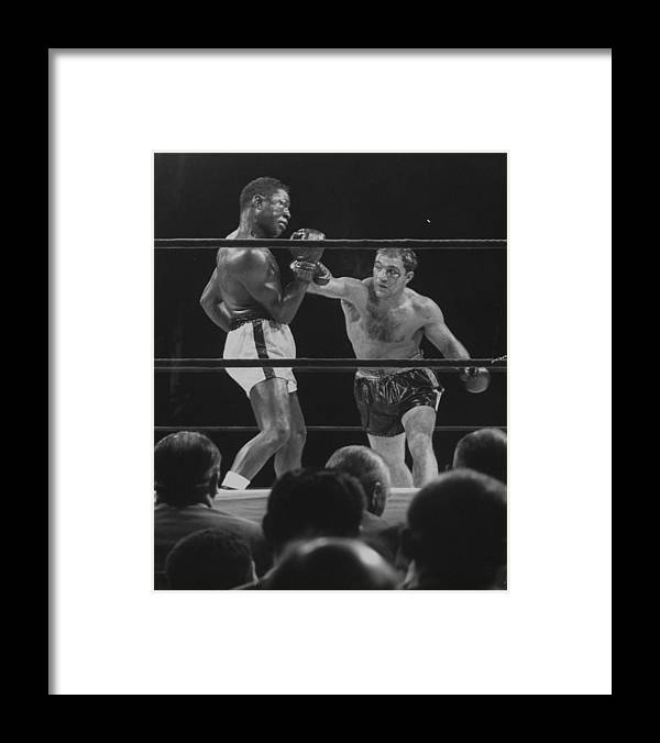 Timeincown Framed Print featuring the photograph Rocky Marcianoezzard Charles by Ralph Morse