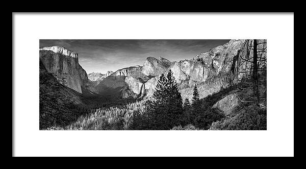 Scenics Framed Print featuring the photograph Rocky Mountains Overlooking Rural by Chris Clor