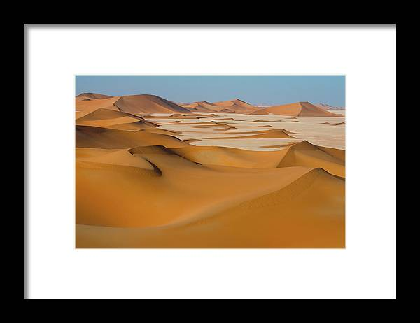 Tranquility Framed Print featuring the photograph Rub Al-khali Empty Quarter by All Rights Reserved For Ahmed Al-shukaili