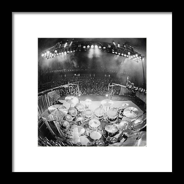 Crowd Framed Print featuring the photograph Rush In Concert by Fin Costello