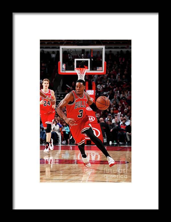 Nba Pro Basketball Framed Print featuring the photograph Sacramento Kings V Chicago Bulls by Jeff Haynes