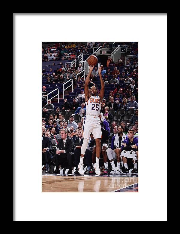 Nba Pro Basketball Framed Print featuring the photograph Sacramento Kings V Phoenix Suns by Michael Gonzales