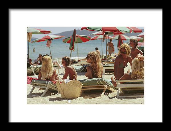 Child Framed Print featuring the photograph Saint-tropez Beach by Slim Aarons