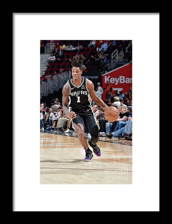 Nba Pro Basketball Framed Print featuring the photograph San Antonio Spurs V Cleveland Cavaliers by David Liam Kyle