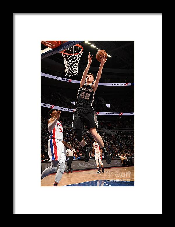 Nba Pro Basketball Framed Print featuring the photograph San Antonio Spurs V Detroit Pistons by Chris Schwegler