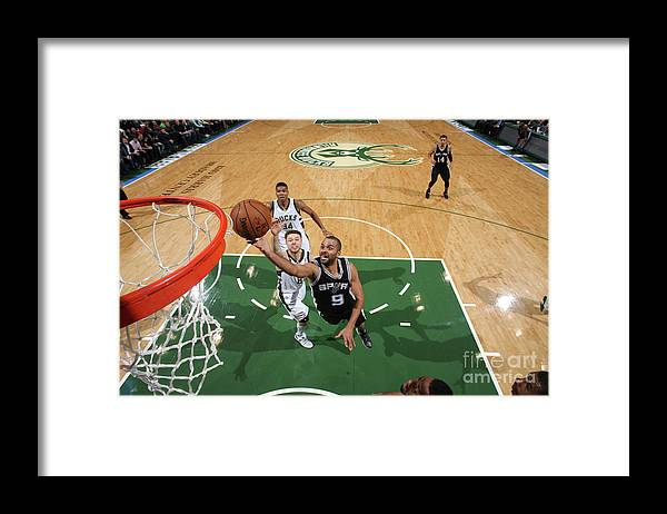 Nba Pro Basketball Framed Print featuring the photograph San Antonio Spurs V Milwaukee Bucks by Gary Dineen