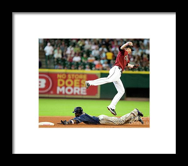 Tony Gwynn Jr. Framed Print featuring the photograph San Diego Padres V Houston Astros by Bob Levey