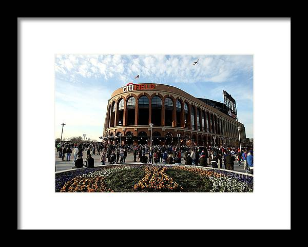 Residential District Framed Print featuring the photograph San Diego Padres V New York Mets by Ezra Shaw
