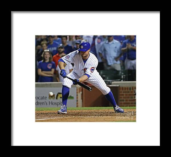 People Framed Print featuring the photograph Seattle Mariners V Chicago Cubs 1 by Jonathan Daniel