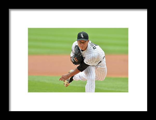 American League Baseball Framed Print featuring the photograph Seattle Mariners V Chicago White Sox by Brian Kersey