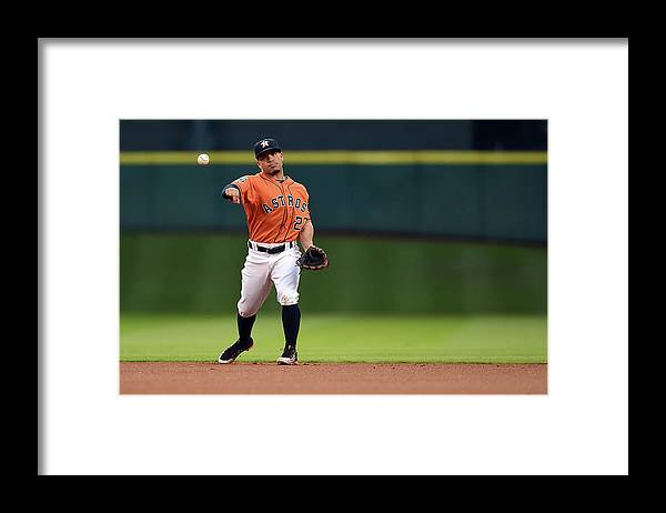 People Framed Print featuring the photograph Seattle Mariners V Houston Astros by Stacy Revere