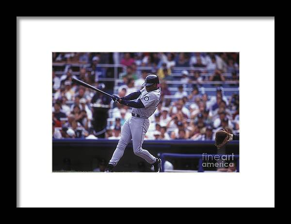 People Framed Print featuring the photograph Seattle Mariners V New York Yankees by Mitchell Layton