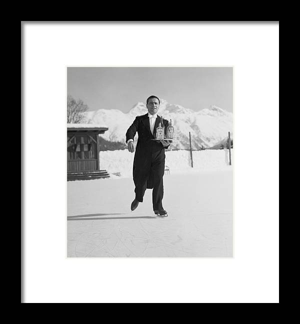 Snow Framed Print featuring the photograph Skating Waiter by Horace Abrahams