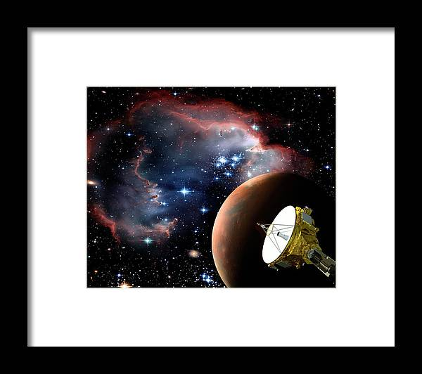 Unmanned Spacecraft Framed Print featuring the digital art Space Exploration by Steve Allen