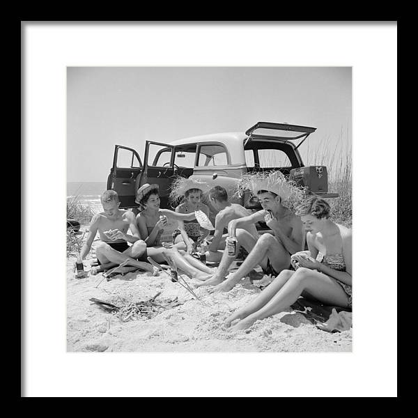 Straw Hat Framed Print featuring the photograph Spring Break by Slim Aarons