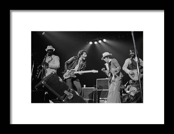 Music Framed Print featuring the photograph Springsteen Live In New Jersey by Fin Costello