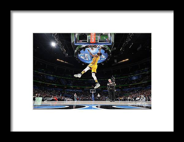 Nba Pro Basketball Framed Print featuring the photograph Sprite Slam Dunk Contest by Andrew D. Bernstein