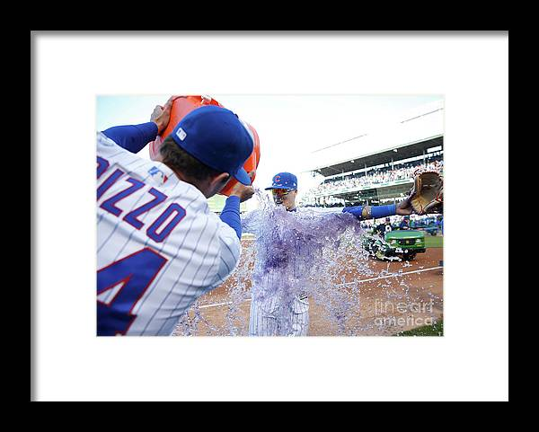 Following Framed Print featuring the photograph St Louis Cardinals V Chicago Cubs by Nuccio Dinuzzo
