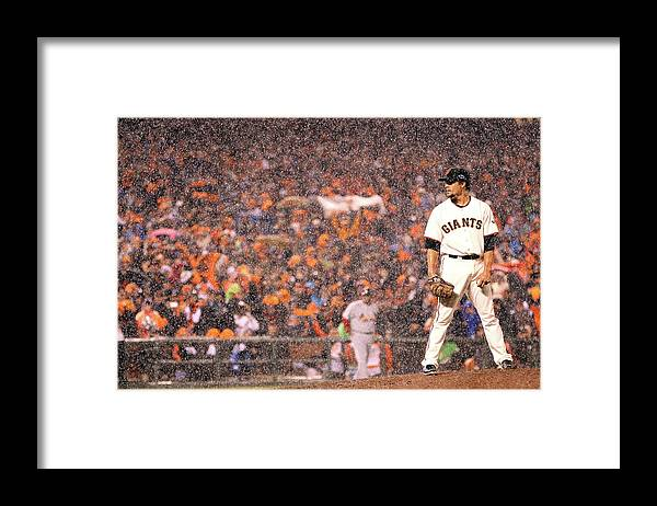 St. Louis Cardinals Framed Print featuring the photograph St Louis Cardinals V San Francisco by Christian Petersen