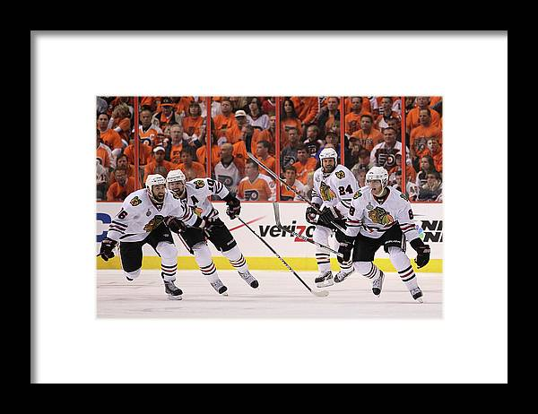 Playoffs Framed Print featuring the photograph Stanley Cup Finals - Chicago Blackhawks by Bruce Bennett