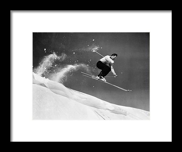 Skiing Framed Print featuring the photograph Sun Valley Skier by Keystone