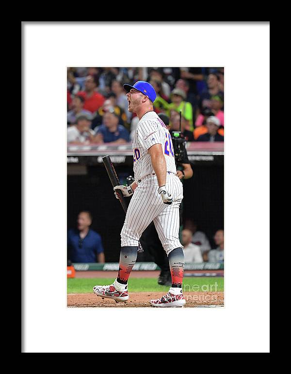 People Framed Print featuring the photograph T-mobile Home Run Derby by Jason Miller