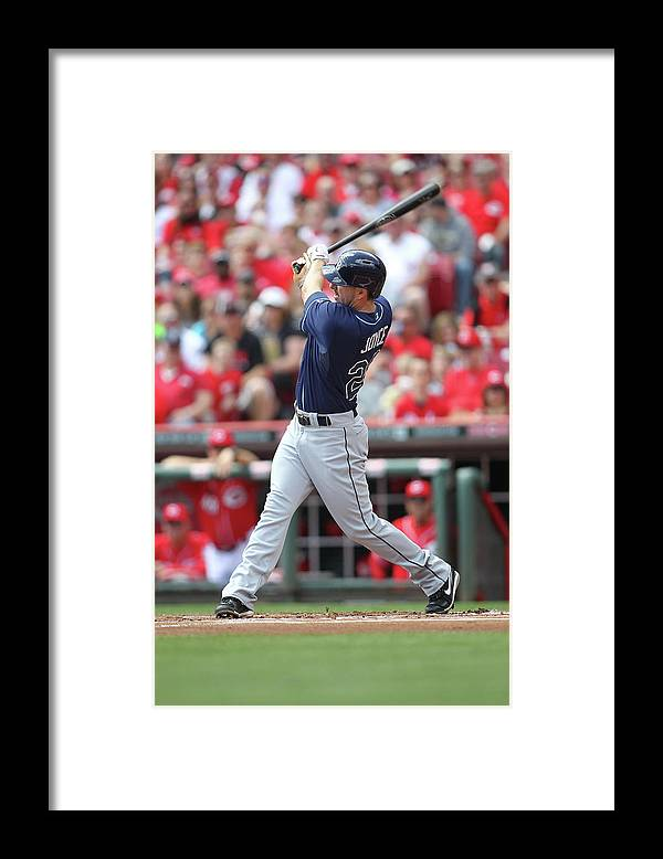 Great American Ball Park Framed Print featuring the photograph Tampa Bay Ray V. Cincinnati Reds by John Grieshop