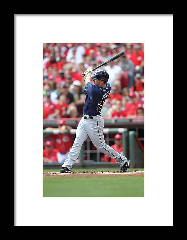 Great American Ball Park Framed Print featuring the photograph Tampa Bay Ray V. Cincinnati Reds 1 by John Grieshop