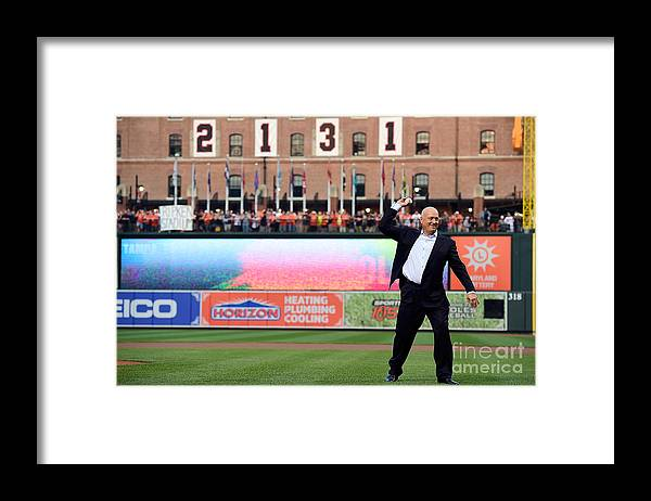 People Framed Print featuring the photograph Tampa Bay Rays V Baltimore Orioles by Patrick Mcdermott