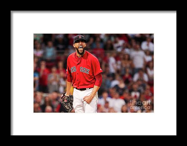 David Price Framed Print featuring the photograph Tampa Bay Rays V Boston Red Sox - Game 1 by Adam Glanzman