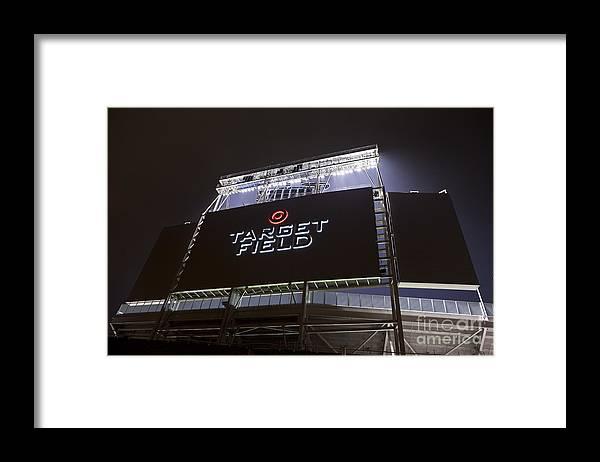 American League Baseball Framed Print featuring the photograph Target Field Previews by Wayne Kryduba