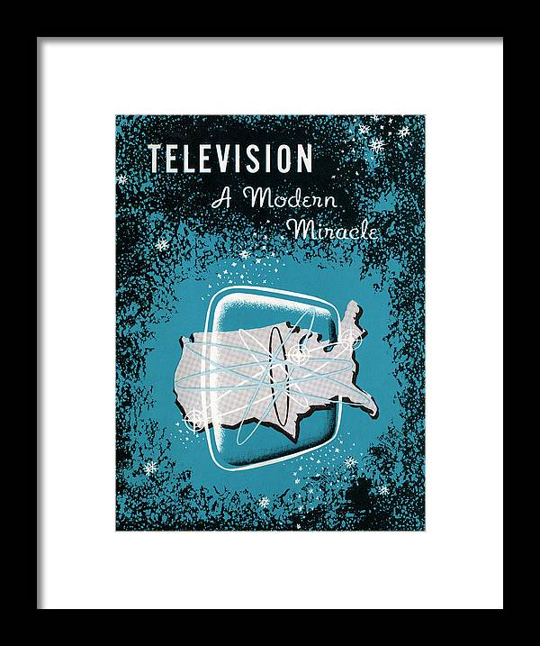 1950-1959 Framed Print featuring the photograph Television, A Modern Miracle by Graphicaartis