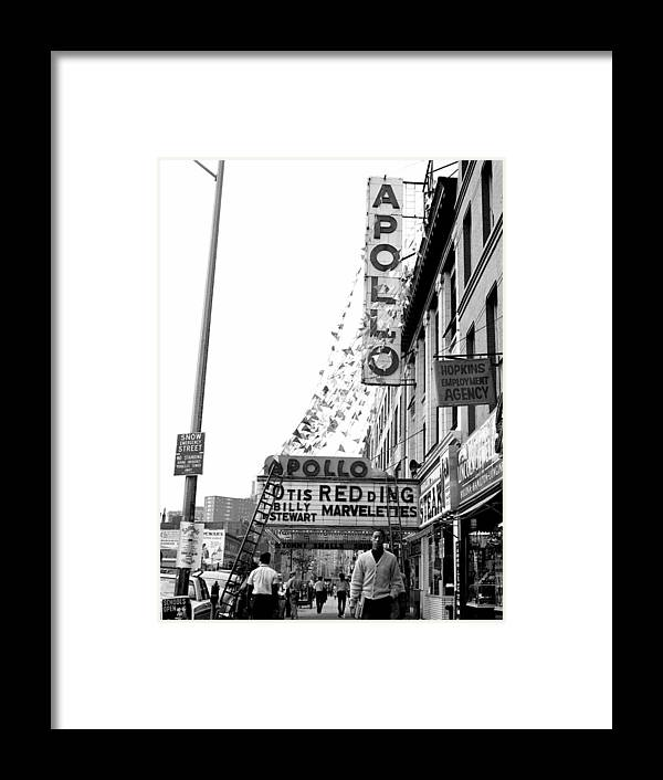 Apollo Theater Framed Print featuring the photograph The Apollo Theater In Harlem. Otis by New York Daily News Archive