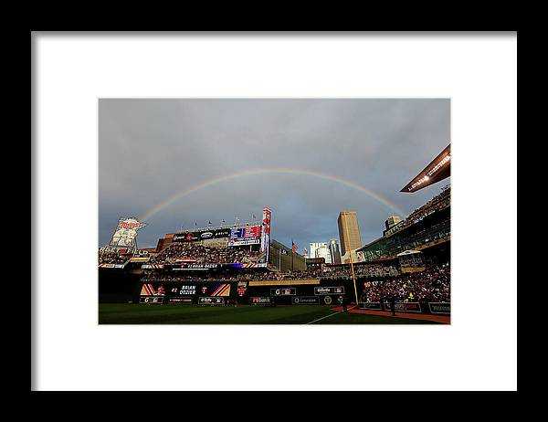 American League Baseball Framed Print featuring the photograph The Gillette Home Run Derby by Rob Carr