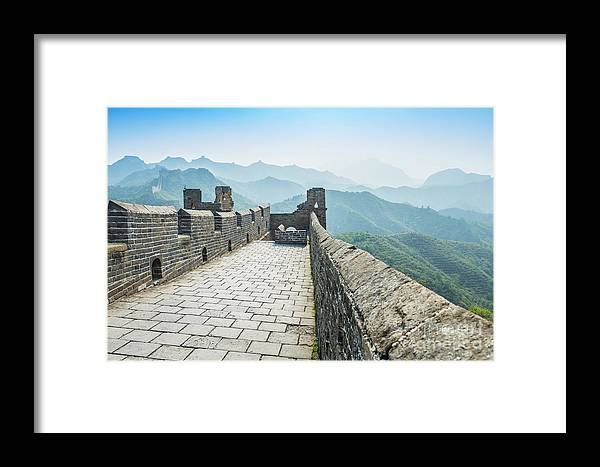 Scenic Framed Print featuring the photograph The Great Wall Of China by Aphotostory