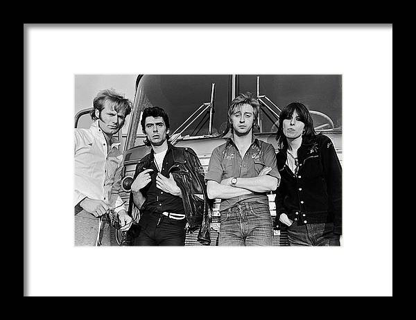 Rock Music Framed Print featuring the photograph The Pretenders by George Rose