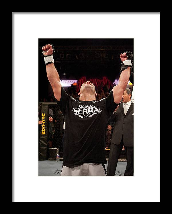 Martial Arts Framed Print featuring the photograph The Ultimate Fighter 4 Finale by Josh Hedges/zuffa Llc